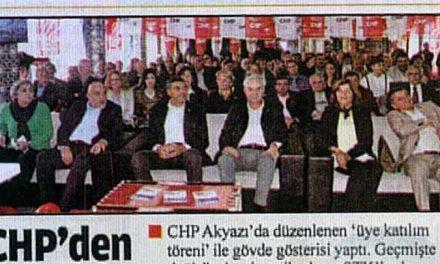 CHP'den gövde gösterisi – Bizim Sakarya
