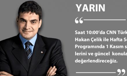 Yarın (8 Kasım 2015) CNN Türk'teyim