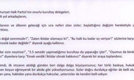 Umut Oran'dan CHP delegesine çağrı