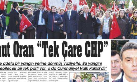 """Umut Oran """"Tek Çare CHP"""" – Kütahya Postası"""