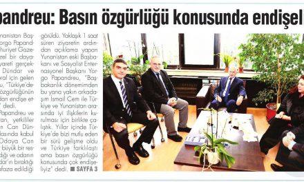 Papandreu: Basın özgürlüğü konusunda endişeliyiz – Bizim Gazete