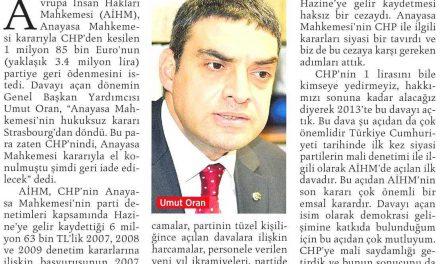 AYM'nin parti denetimi AİHM'de mahkum oldu-Milliyet