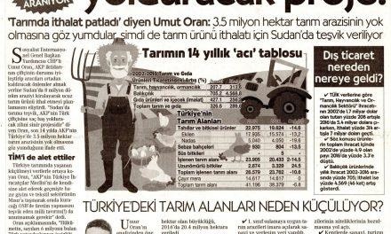 Türk Çiftçisi Bitti Çözüm Sudan'da Aranıyor