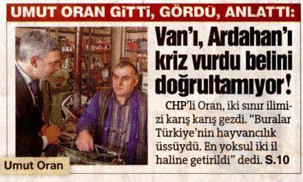 Doğu Anadolu Belini Doğrultamıyor-Sözcü